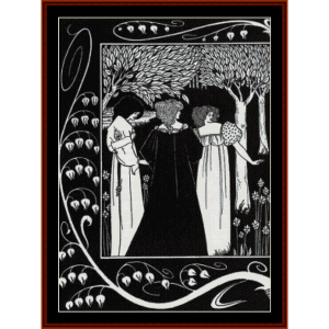 Sir Lancelot and Dame Elaine - Beardsley cross stitch pattern by Cross Stitch Collectibles | Crafting | Cross-Stitch | Wall Hangings