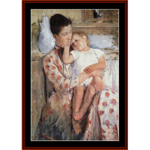 Mother and Child IV - Cassatt cross stitch pattern by Cross Stitch Collectibles | Crafting | Cross-Stitch | Wall Hangings