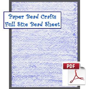 blue chevrons bead sheet