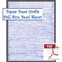 Blue Chevrons Bead Sheet | Crafting | Cross-Stitch | Wall Hangings