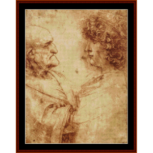 Old Man and a Youth - DaVinci cross stitch pattern by Cross Stitch Collectibles | Crafting | Cross-Stitch | Wall Hangings