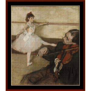 The Dance Lesson - Degas cross stitch pattern by Cross Stitch Collectibles | Crafting | Cross-Stitch | Wall Hangings