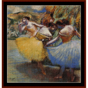 Three Dancers IV - Degas cross stitch pattern by Cross Stitch Collectibles | Crafting | Cross-Stitch | Wall Hangings