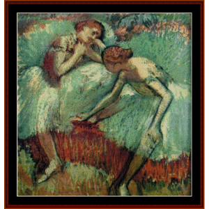 Two Dancers at Rest - Degas cross stitch pattern by Cross Stitch Collectibles | Crafting | Cross-Stitch | Wall Hangings