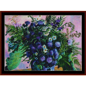 finland bouquet - kustodiev cross stitch pattern by cross stitch collectibles
