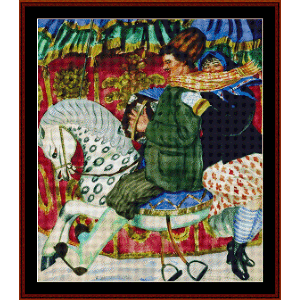 At the Carnival - Kustodiev cross stitch pattern by Cross Stitch Collectibles | Crafting | Cross-Stitch | Wall Hangings