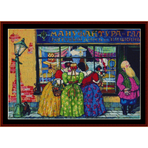 Near Showcase - Kustodiev cross stitch pattern by Cross Stitch Collectibles | Crafting | Cross-Stitch | Other