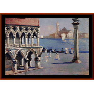View of San Giorgio - Kustodiev cross stitch pattern by Cross Stitch Collectibles | Crafting | Cross-Stitch | Wall Hangings