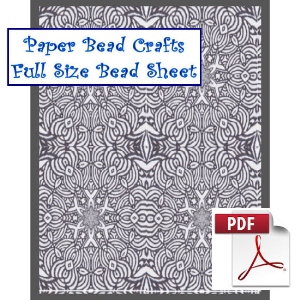 charcol reflections bead sheet