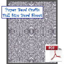 Charcol Reflections Bead Sheet | Crafting | Paper Crafting | Other