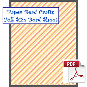 full orange stripes bead sheet