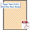 Full Orange Stripes Bead Sheet | Crafting | Paper Crafting | Other