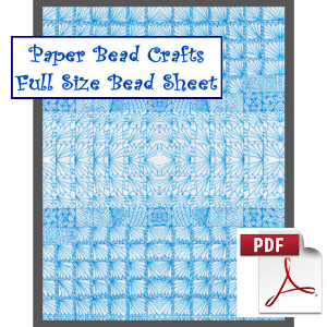 blue reflections bead sheet