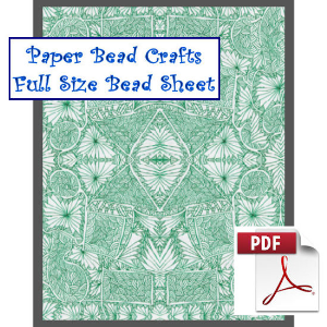 green reflections bead sheet