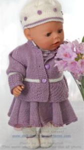 DollKnittingPattern 0130D LAURA - Rokje, Broekje, Trui, Jasje, Muts en Sokjes-(Nederlands) | Crafting | Knitting | Baby and Child