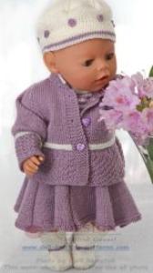DollKnittingPatterns 0130D LAURA - Rock, Unterhose, Pulli, Jacke, Mütze und Socken-(Deutsch) | Crafting | Knitting | Baby and Child