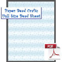 Blue Swirls Bead Sheet | Crafting | Paper Crafting | Scrapbooking