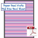 Full Purple and Blue Stripes Bead Sheet | Crafting | Paper Crafting | Scrapbooking