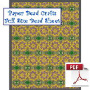 Spring Rosettes All Over Bead Sheet | Crafting | Paper Crafting | Scrapbooking