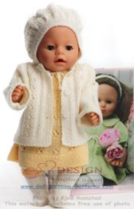 DollKnittingPattern 0129D GYDA - Jurkje, Broekje, Jasje, Haarband, Kousjes en Muts-(Nederlands) | Crafting | Knitting | Baby and Child