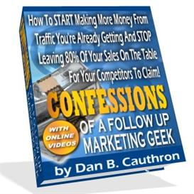 Confessions of a Follow Up Marketing Geek With Master Resale Rights | eBooks | Business and Money