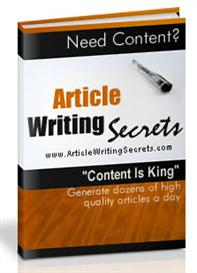 Article Writing Secrets With Master Resale Rights | eBooks | Internet