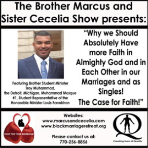 """Why we Should Absolutely Have more Faith in Almighty God and in Each Other in our Marriages and as Singles in 2015! The Case for Faith!"" 