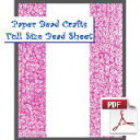 Pink Bliss Bead Sheet | Crafting | Paper Crafting | Scrapbooking
