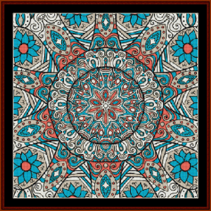 fractal 505 cross stitch pattern by cross stitch collectibles