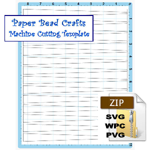 Paper Bead Machine Cutting Template, 5/8 x 1/8 x 8-1/2 Strips | Crafting | Paper Crafting | Other