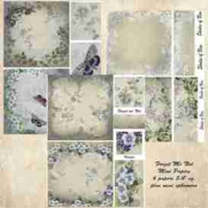 forget me not mini papers printable