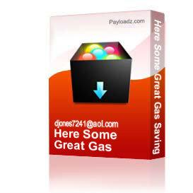 Here Some Great Gas Saving Tips For You | Other Files | Documents and Forms