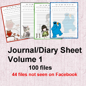 Diary Sheet Volume 1 | Crafting | Paper Crafting | Other
