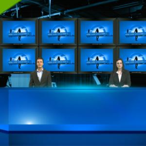 virtual studio (multiscreens + 4 hosts)