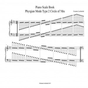 piano scale book phrygian mode type 2 circle of 5ths