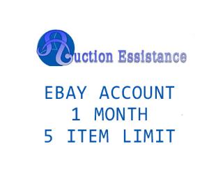 ebay + paypal 1 month - 5 item