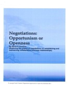 Negotiations: Opportunism or Openness | Documents and Forms | Business