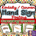Kodaly / Curwen Hand Signs Camping Theme | Other Files | Everything Else