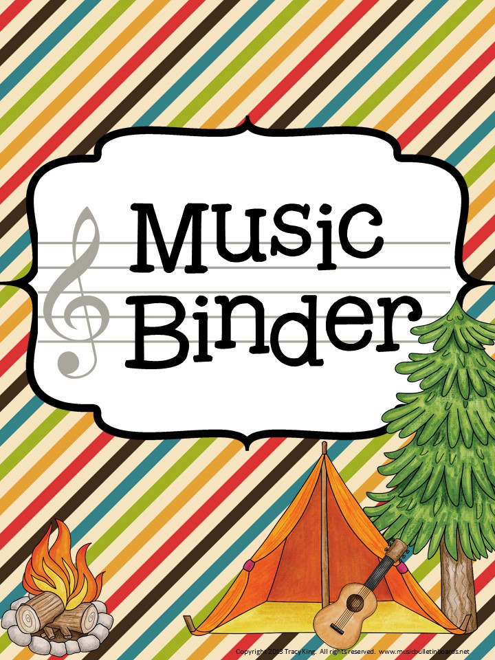 music teacher binder camping theme