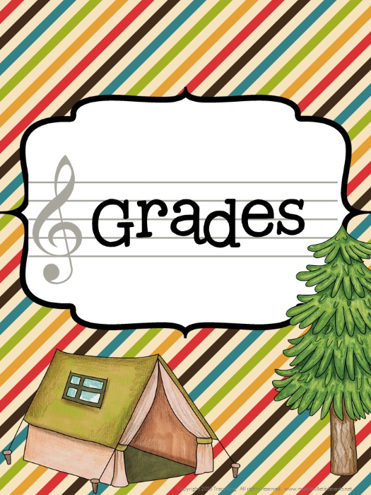 First Additional product image for - Music Teacher Binder Camping Theme