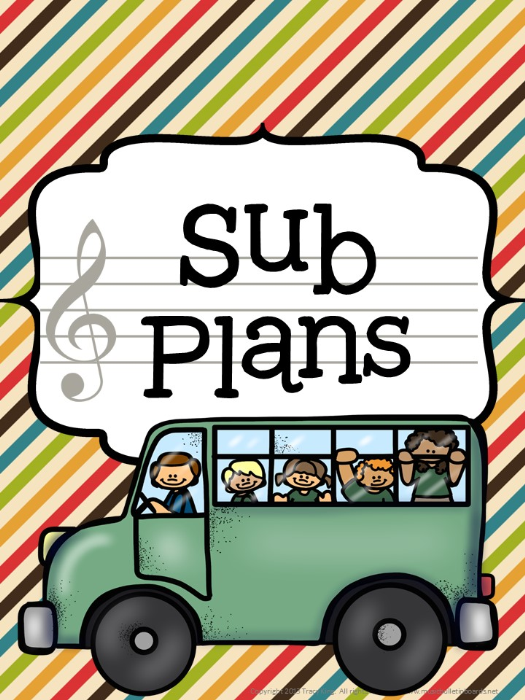 Second Additional product image for - Music Teacher Binder Camping Theme