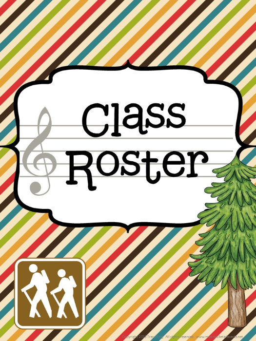 Third Additional product image for - Music Teacher Binder Camping Theme