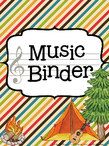 music teacher binder camping theme