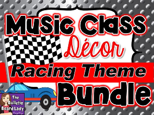 Music Class Decor Bundle - Racing Theme | Other Files | Everything Else