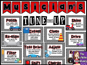 musician's tune-up bulletin board