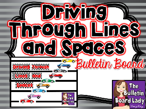 driving through lines and space bulletin board