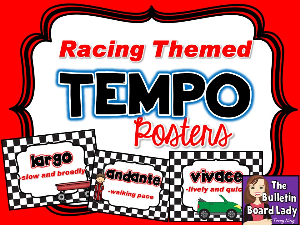 Tempo Posters - Racing Theme | Other Files | Everything Else