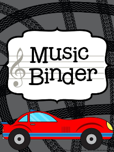 music teacher binder - racing theme
