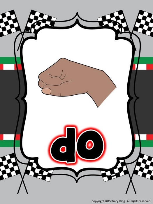 First Additional product image for - Kodaly Curwen Hand Sign Posters - Racing Theme