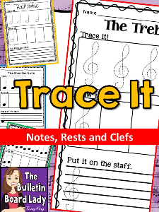 music tracing worksheet